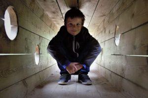 туннель из досок